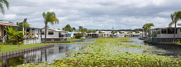 Lake and village